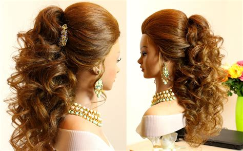 bridesmaid flowers curly bridal hairstyle for hair tutorial