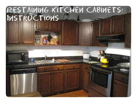 re staining kitchen cabinets