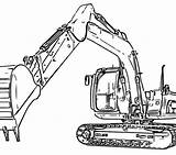 Digger Drawing Coloring Pages Getdrawings sketch template