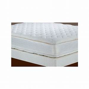 Double euro top mattress and boxspring queen pb 112 for Dual pillow top mattress