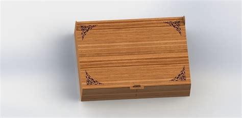 model laser cut wooden box cgtrader