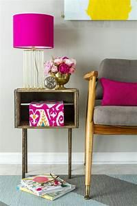 Table De Chevet Jaune : 1001 id es d co avec une table de chevet originale ~ Melissatoandfro.com Idées de Décoration