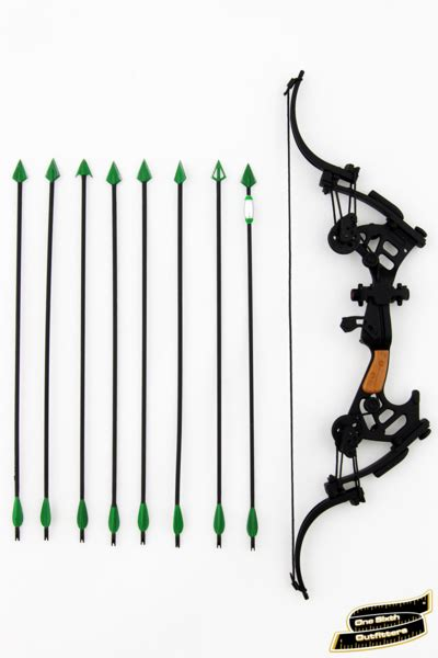 1 6 scale green arrow compound bow one sixth outfitters