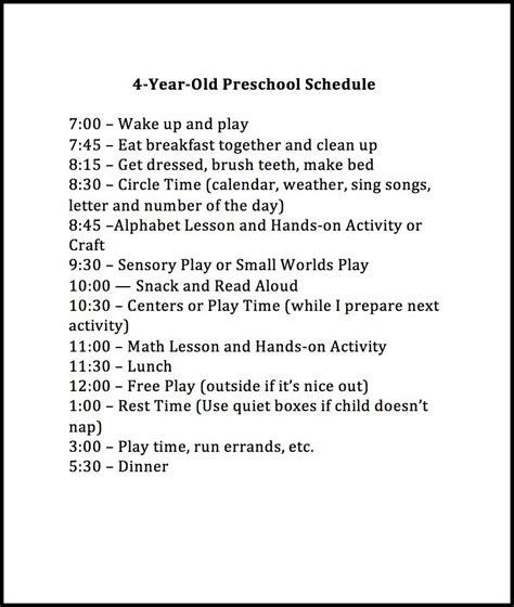 free preschool curriculum for 4 year olds weekly preschool planner 613