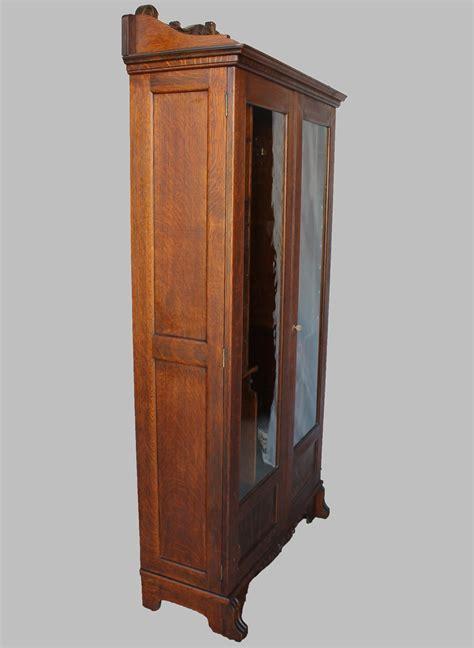 Bargain John's Antiques   Antique Oak Gun Cabinet