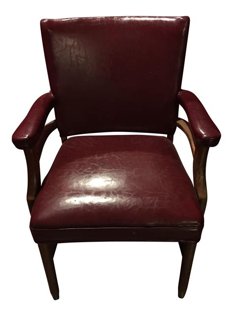 mid century leather office chair chairish