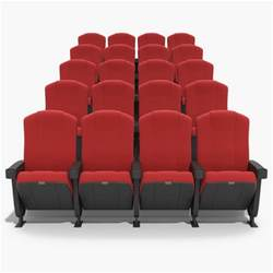 3d chairs theater model
