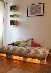Lampe En Palette : 30 id es de lits en palette pour votre chambre page 2 sur 3 des id es ~ Voncanada.com Idées de Décoration