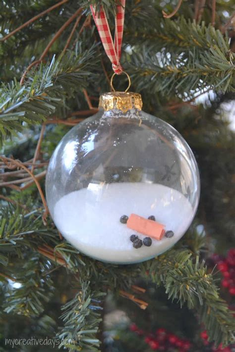 homemade christmas melted snowman ornament  creative days