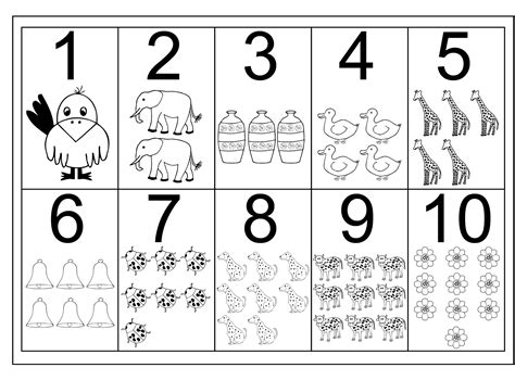 number 10 worksheet for loving printable