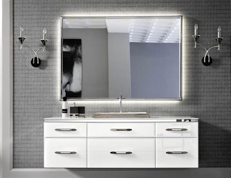 Hton Bay Vanities by Milldue Mitage 04 White Lacquered Glass Luxury