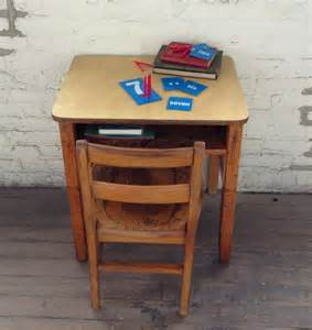 vintage wooden school desk and chair in logan square chicago krrb classifieds