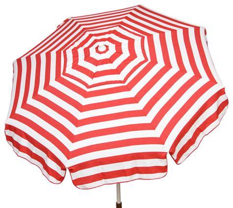 italian 6 ft umbrella acrylic stripes and white