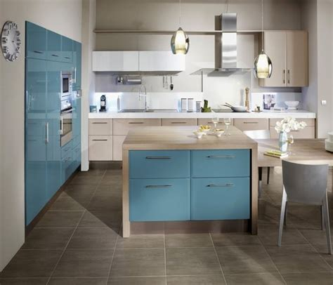 Cuisine Bleu Canard Envie D Une Cuisine En Couleurs Galerie Photos D Article 9 12