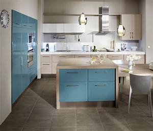 Meuble Bleu Canard : envie d une cuisine en couleurs galerie photos d 39 article 9 12 ~ Teatrodelosmanantiales.com Idées de Décoration