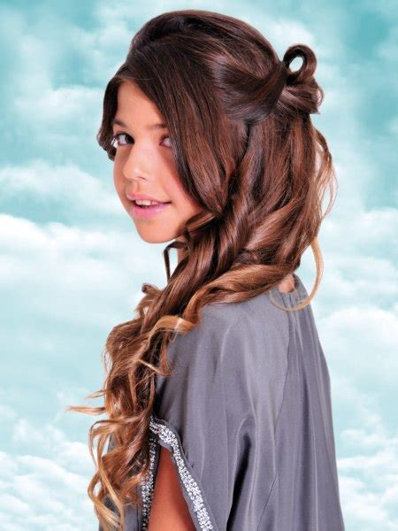 long girls hairstyle with french braids to keep hair out