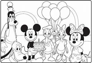 Mickey Mouse Clubhouse Birthday Coloring Page | Birthday ...