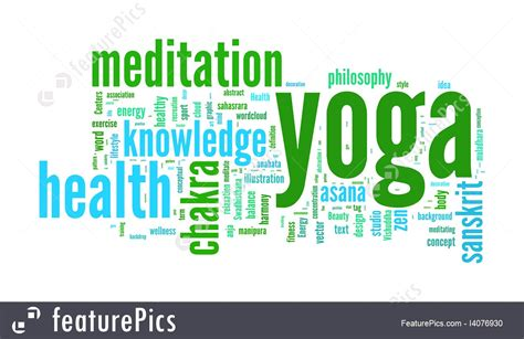 Yoga Word Collage On White Background