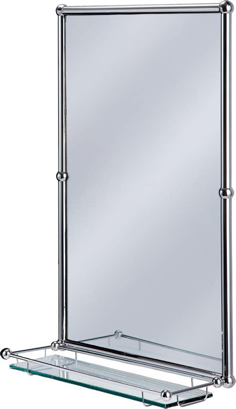 alternative to kitchen burlington bathrooms chrome rectangular mirror with shelf