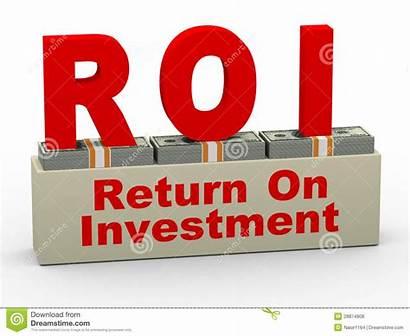 Investment Return Roi 3d Clipart Marketing Illustration