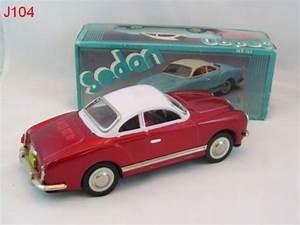 Vintage Tin Friction Vw Karmann Car Sedan China Mf743 Toy