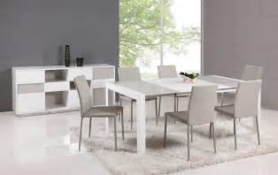 extendable glass top leather dining table and chair sets