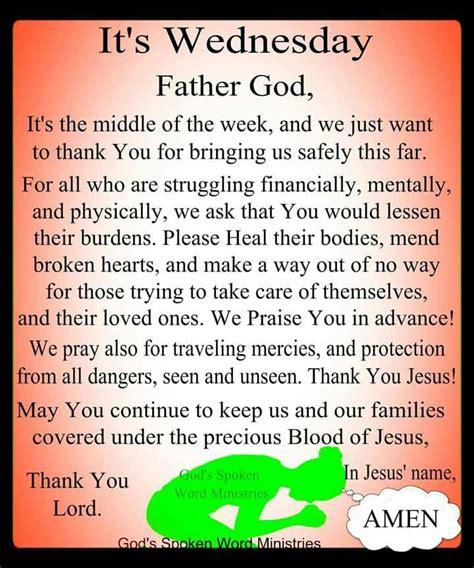 wednesday blessings amen wednesday prayer prayer