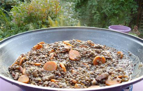 un classique lentilles carottes lardons recette