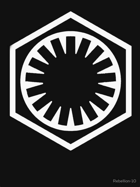 the symbol of the first order from the star wars media