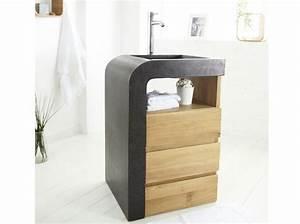 40 meubles pour une petite salle de bains elle decoration for Porte d entrée alu avec meuble lavabo salle de bain 70 cm