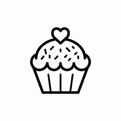 Cupcake Icon Trendy Flat Template Signage Isolated