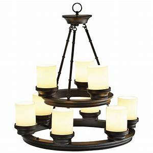 Portfolio light oil rubbed bronze chandelier at