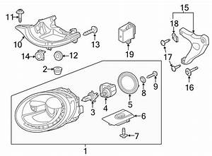 2013 Volkswagen Headlight Bracket  Hid  Xenon  Right - 5c5810437