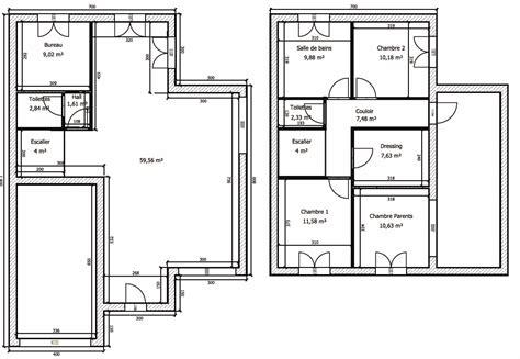 plan de maison moderne toit plat gratuit plan maison plein pied gratuit le monde de l 233 a