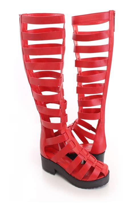 0b295bc9d231 red gladiator sandals heels is heel. red gladiator sandals heels is heel. fahrenheit  red elastic gladiator platform heels cicihot