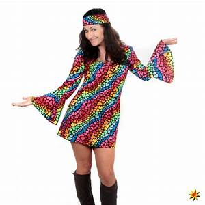 80er Kostüm Selber Machen : damen hippie kost m lea bunt gr e m ~ Frokenaadalensverden.com Haus und Dekorationen