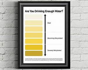 Urine Color Chart Pee Color Chart Water Intake Chart Pee
