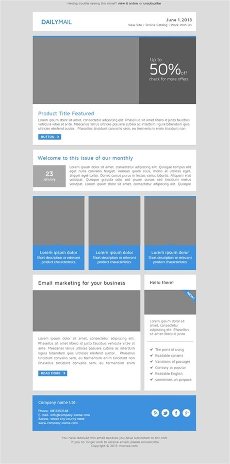 daily mail clean responsive email template