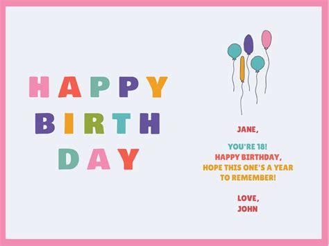 customize  birthday card templates hundreds  choose