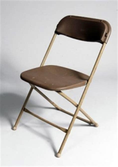 chair brown folding rental plus