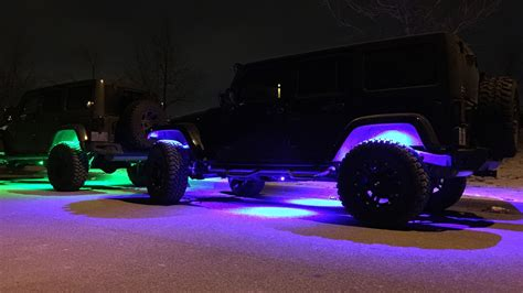 black light underglow led jeep wrangler accessories rock lights halo s