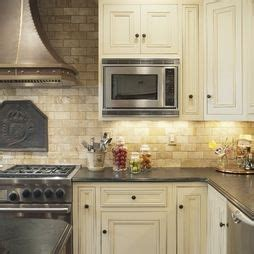 painted kitchen backsplash photos concrete countertop with white cabinets island in 3978