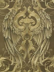 Schwarz Gold Tapete : gl ckler tapete vlies engelsfl gel gold schwarz glanz 52540 ~ Yasmunasinghe.com Haus und Dekorationen