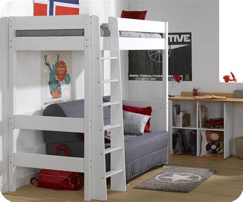 bureau macif lit mezzanine enfant clay blanc achat vente mobilier bois