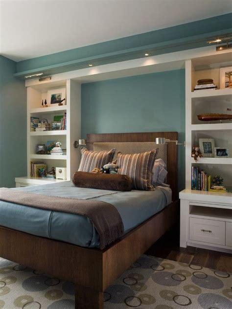 built  bookshelvesnightstands  bed decor ideas