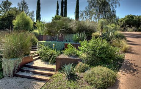 turn  steep backyard   terraced garden