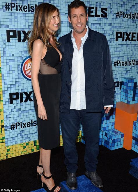 jackie sandler sexy adam sandler hits the red carpet with wife jackie at