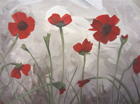 How To Paint Poppies (part Two