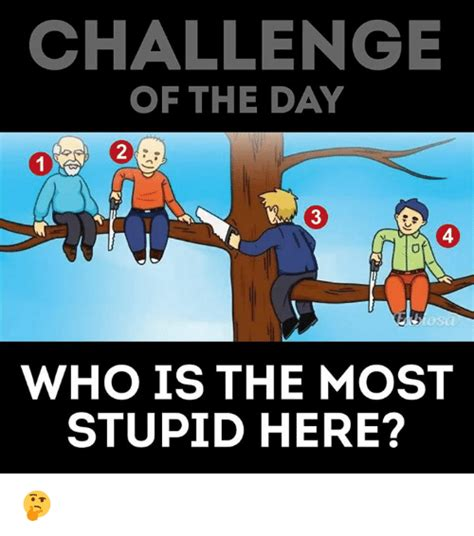 Memes Are Stupid - challenge of the day 2 3 4 0 who is the most stupid here meme on me me