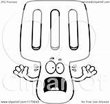 Spatula Screaming Coloring Mascot Clipart Cartoon Outlined Vector Thoman Cory Royalty sketch template